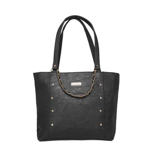 Diva Walk black leatherette regular handbag