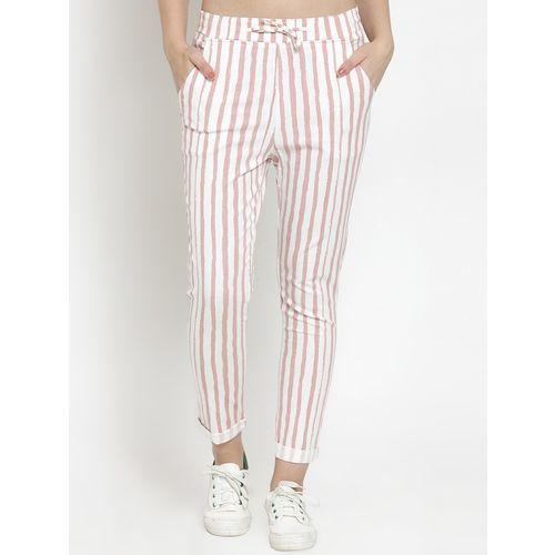 Global Republic turn up hem striped trouser