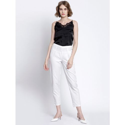 AAMRI high rise solid cigarette trouser