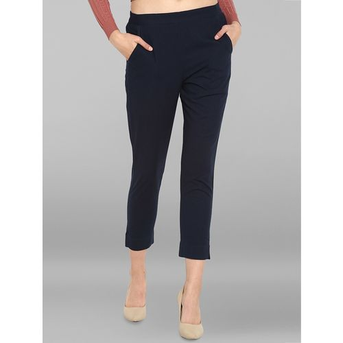 janasya elasticated waist cropped pant
