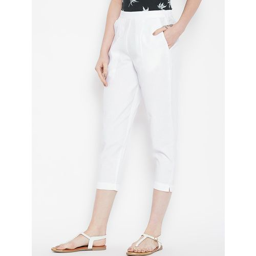 Bitterlime pleat detail cropped pant