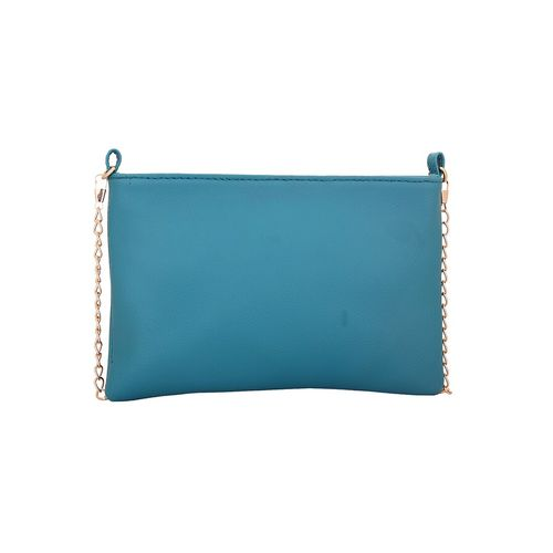 Lapis O Lupo blue leatherette regular sling bag