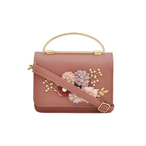 Mark & Keith pink leatherette sling bag