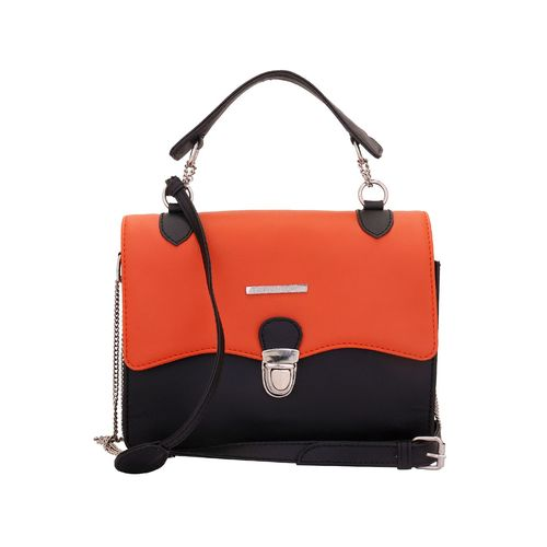 Lapis O Lupo orange leatherette sling bag