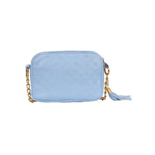 Kleio blue leatherette regular sling bag
