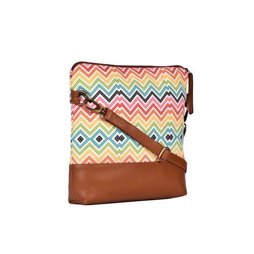 MARISSA multi colored canvas printed sling bag