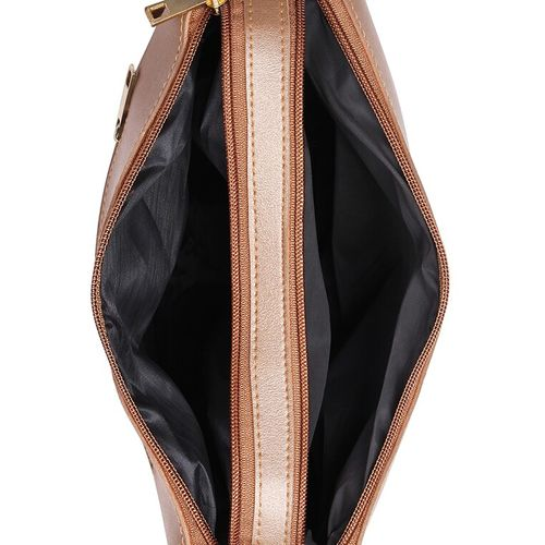 Vivinkaa brown leatherette (pu) quirky sling bag