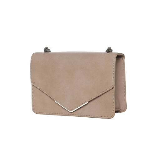 Truffle Collection beige leatherette regular sling bag