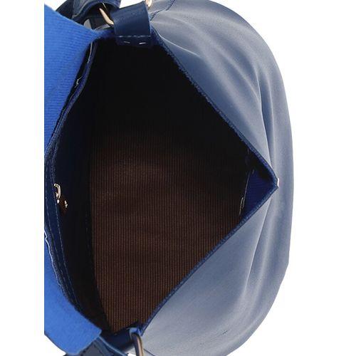 Diva Walk blue leather regular sling bag