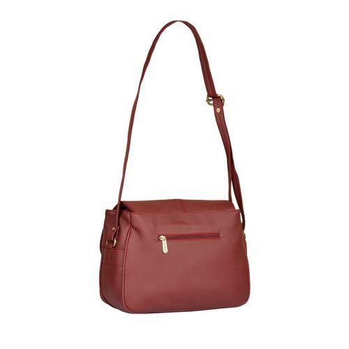 FOSTELO maroon leatherette (pu) regular sling bag