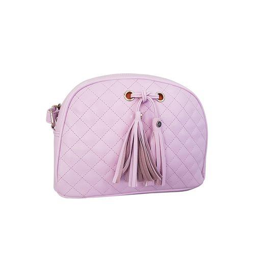 Toteteca purple leatherette regular sling bag