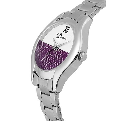 d'milano women ivory steel casual analog watch