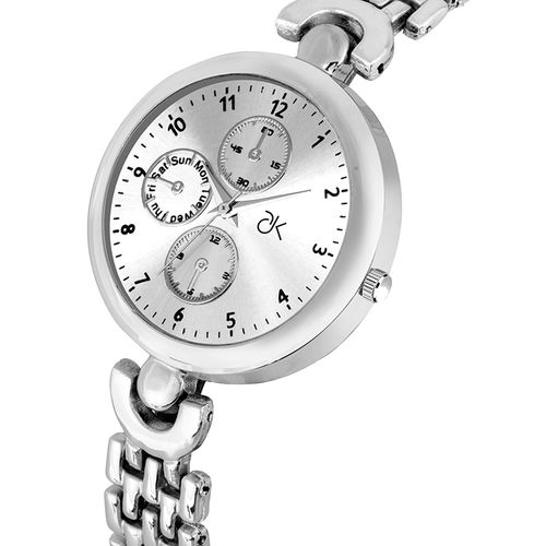 adk analog silver color dial watch for women-ad-24