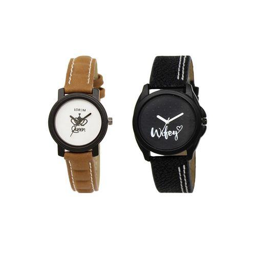 Lorem set of 2 analog watch combos(lk-209-234a)