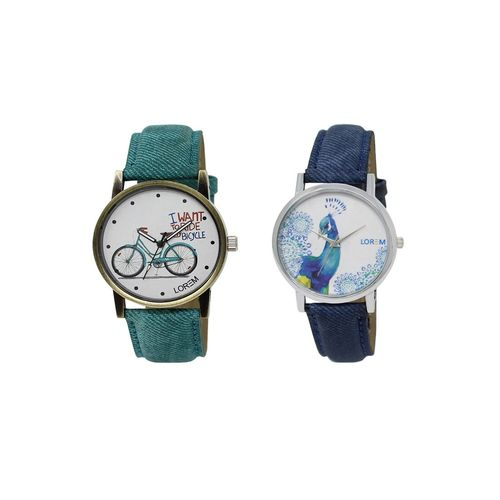 Lorem set of 2 analog watch combos(lk-229-241a)