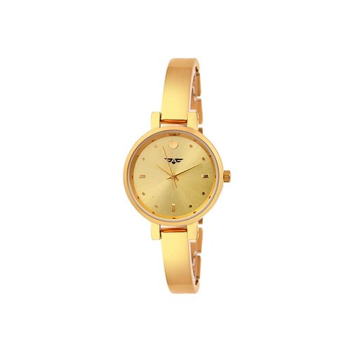 Asgard round dial analog watch -(191-igp-golden-dots-women)