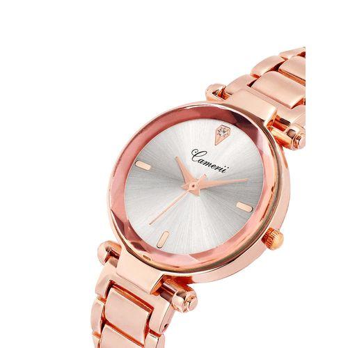 camerii elegance rose gold dial wrist watch for women cwl1026