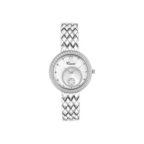 camerii elegance white dial wrist watch for women