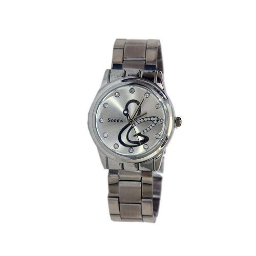 sooms metallic analog wrist watch