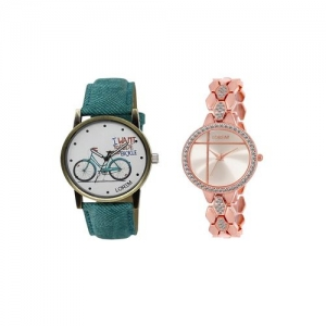 Lorem set of 2 analog watch combos(lk-229-242a)