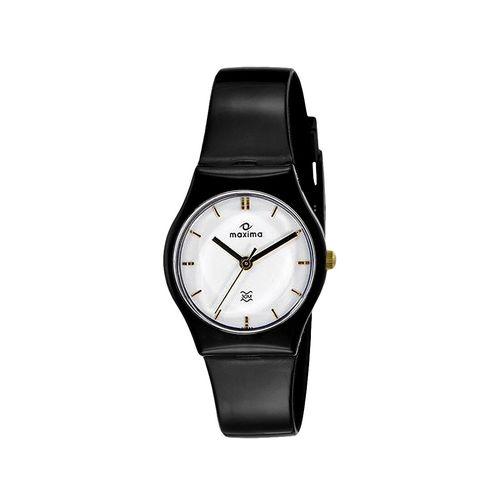 maxima white dial watch for women - 03827ppnw