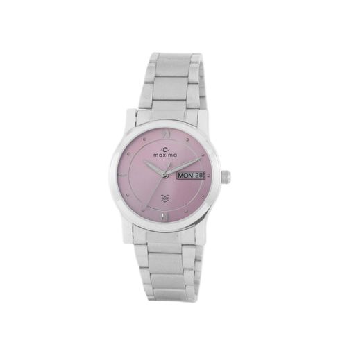 maxima pink analog watch for women