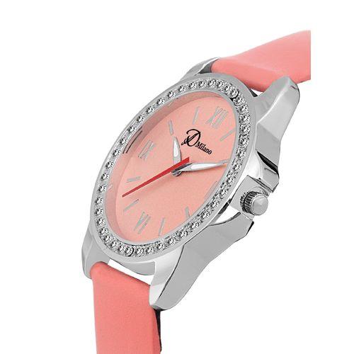 d'milano women rose diamonds love analog watch