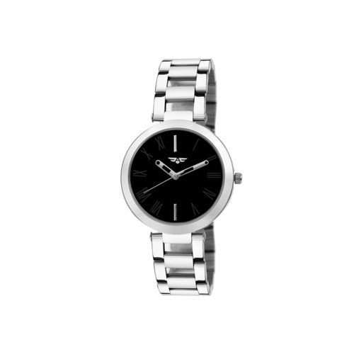 Asgard round dial analog watch -(188-ips-black-full-women)