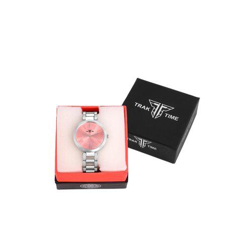 TRAKTIME round dial analog watch-(tt-swc-0073)