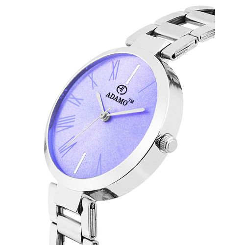 adamo enchant analogue purple dial women's watch - 2480sm03