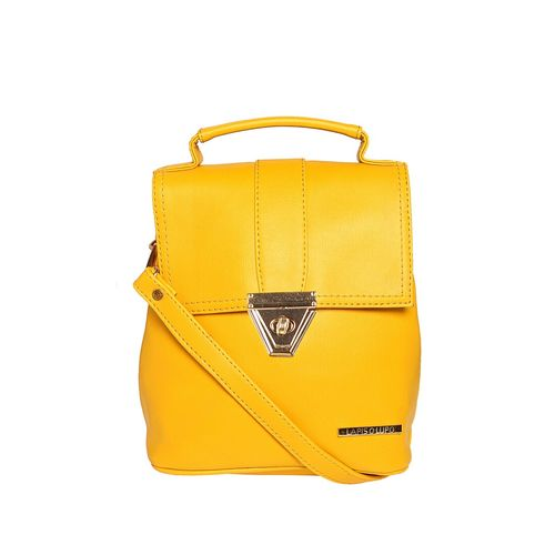 Lapis O Lupo yellow leatherette (pu) fashion backpack