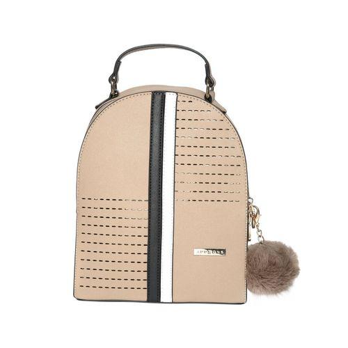 Addons beige leatherette (pu) fashion backpack