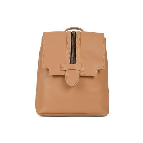 KIELZ brown leatherette (pu) regular backpack