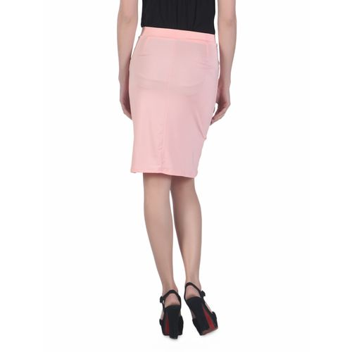 N-Gal draped knee length skirt