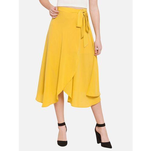 MARTINI canary yellow wrap skirt