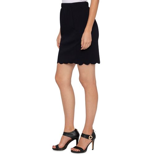 Globus scallop hem high rise skirt
