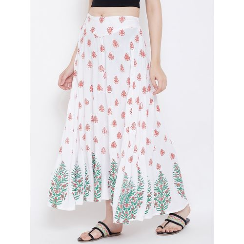 MJ LIFE STYLE floral printed flared skirt