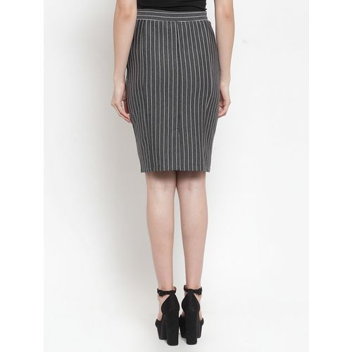 Marie Lucent high rise striped pencil skirt