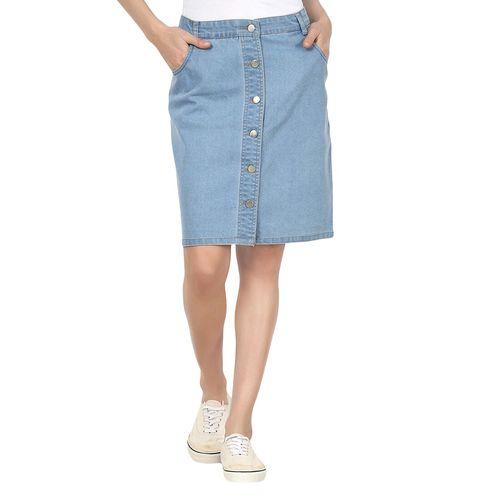 Peptrends light blue denim skirt