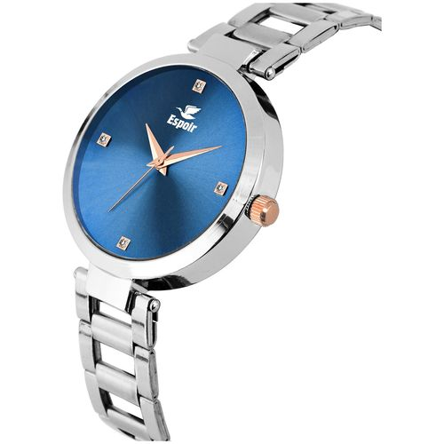 Espoir Analog Stainless Steel Blue Dial Girl's and Women's Watch - ManishaBlue0507 by Guruji