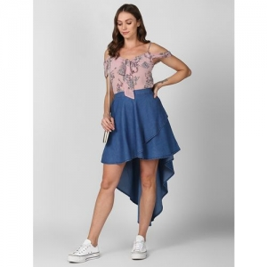 StyleStone high rise asymmetric flared skirt