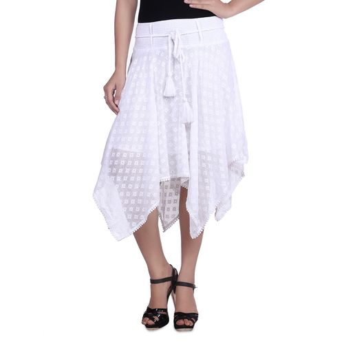 GOODWILL white cotton aline skirts