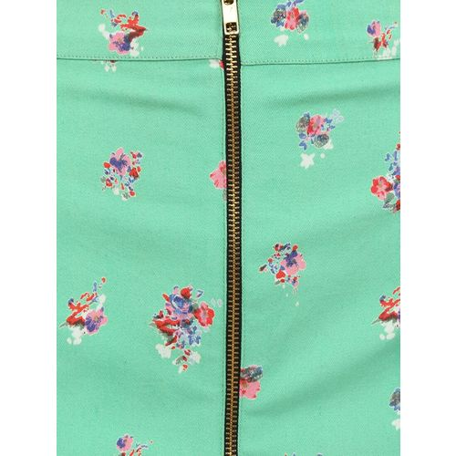 9teenAGAIN green cotton straight skirts