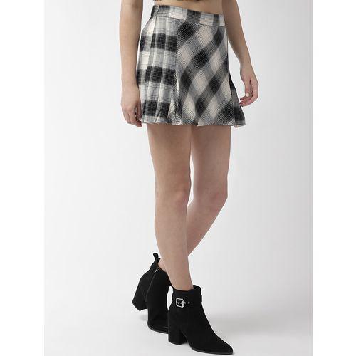 TAURUS high rise checkered a-line skirt