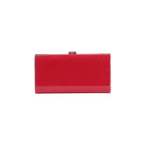Don Cavalli red leatherette box clutch