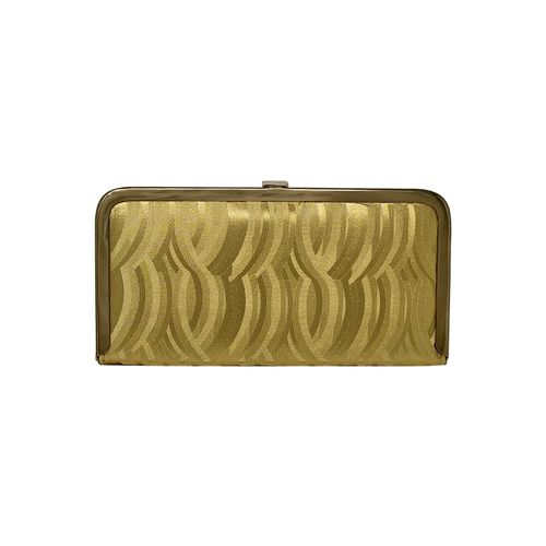 RISH gold metal box clutch