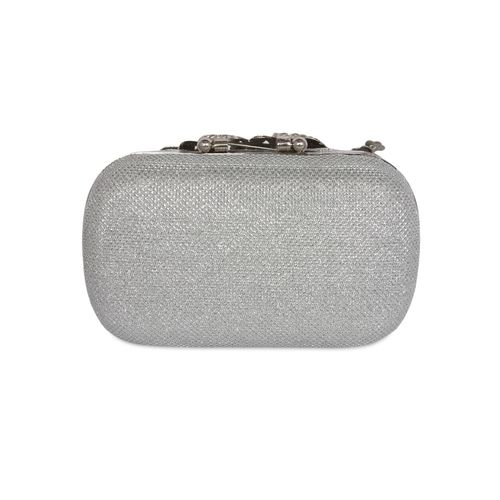 Kleio silver embellished clutches