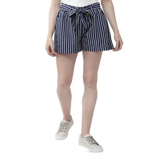 WISSTLER tie knot striped shorts