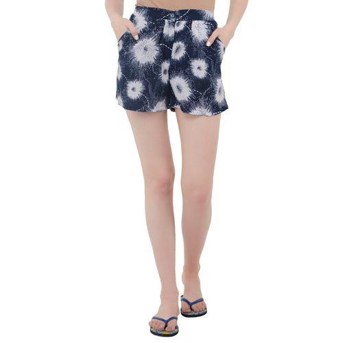 Anshiroyal printed pleated shorts