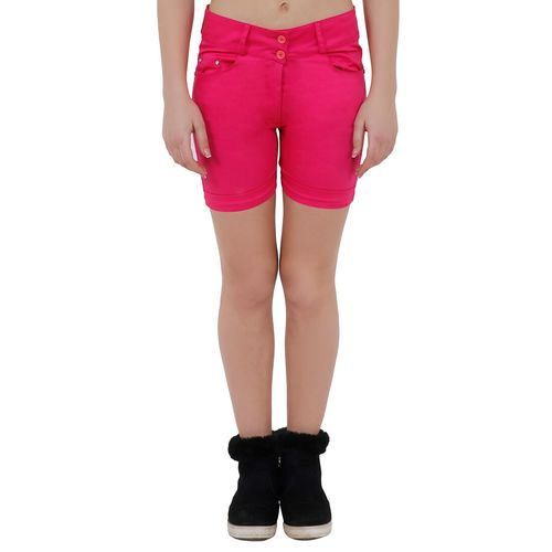 Aadrika turn up hem button closure shorts